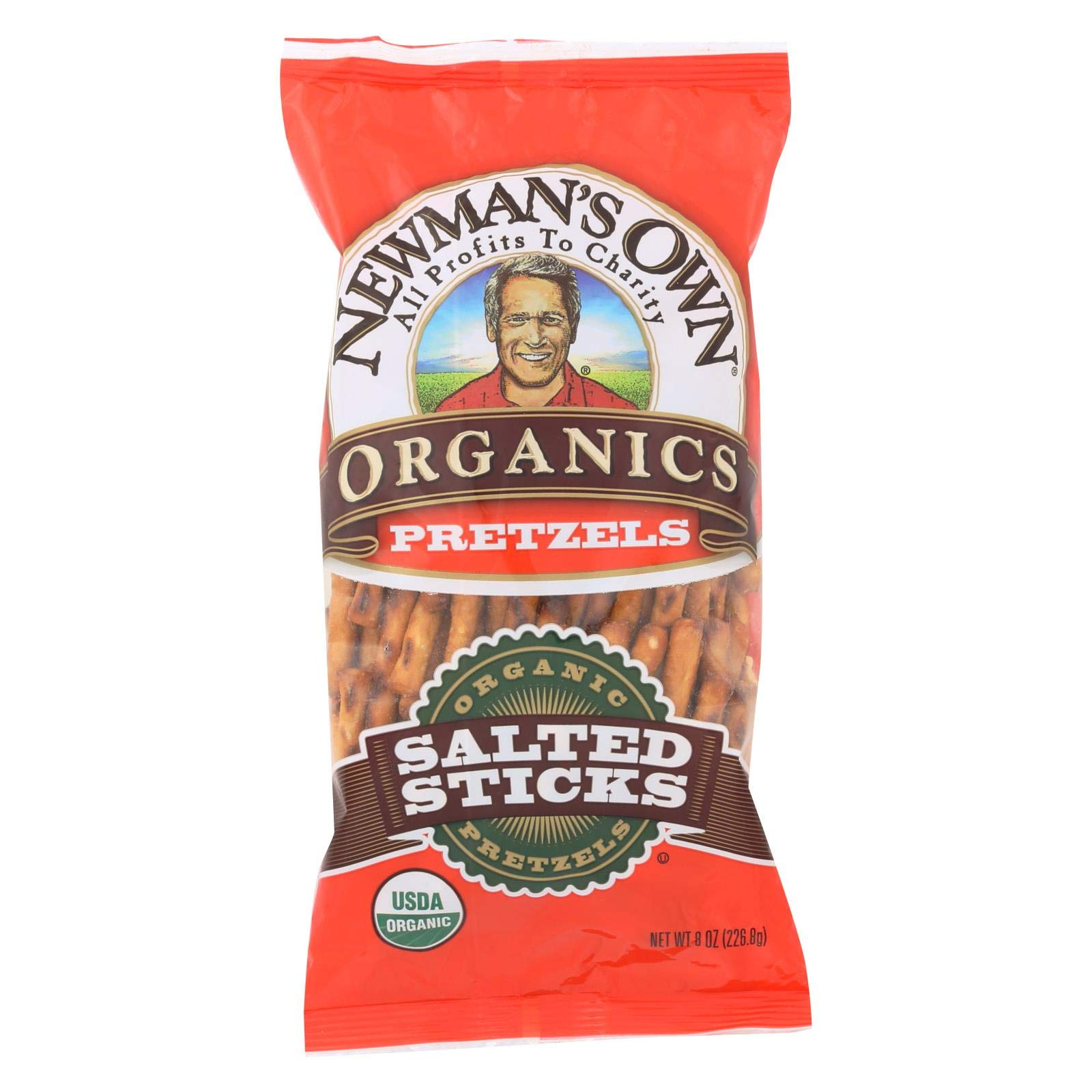 Newman's Own Organics Organic Pretzel Sticks - Salted - Case of 12 - 8 oz. by Newman's Own Organics (Image #1)