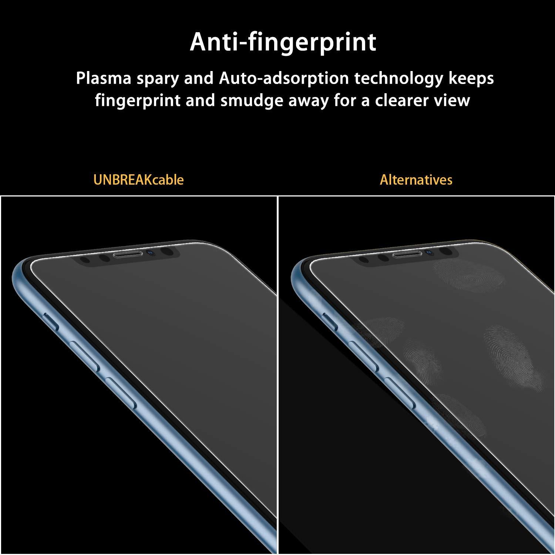 6.1 Zoll Anti-Fingerprint 2.5D Double Defense Series Displayschutzfolie Kratzfest Panzerglasfolie Kompatibel mit iPhone XR blasenfrei und kofferfreundlich UNBREAKcable Panzerglas 2er Pack