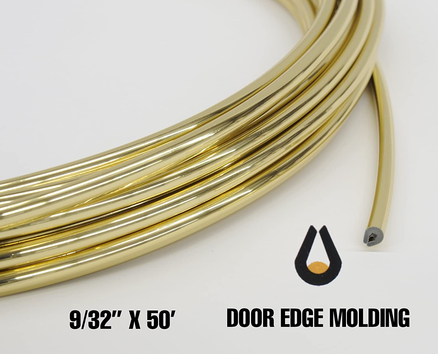 U shaped Automotive Door Edge Guard 9/32 x 50' (Gold) Trim-Gard 406-50