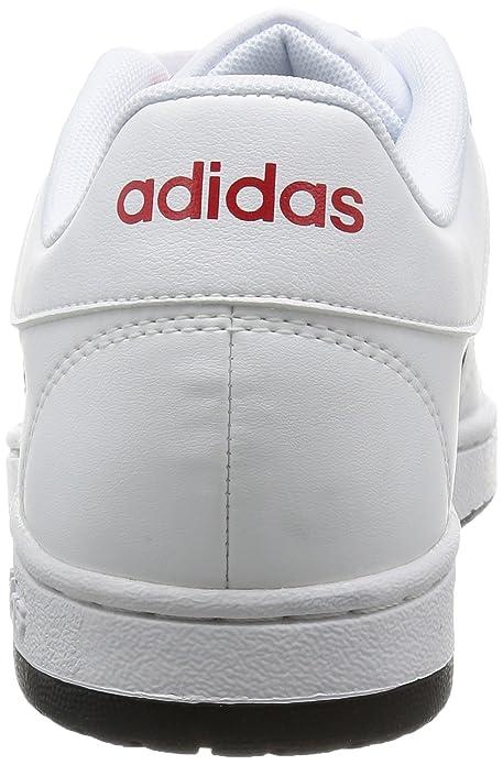 adidas Hoops Vs, Chaussures de Basketball Homme, Multicolore (Ftwwht/Cblack/Powred), 44 EU