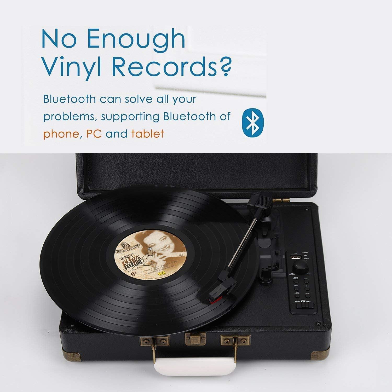 Amazon.com: dmyco Tocadiscos reproductor de Record de vinilo ...