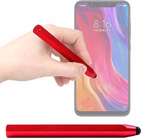 DURAGADGET Lápiz Stylus Rojo para Smartphone Xiaomi Mi 8, Xiaomi ...