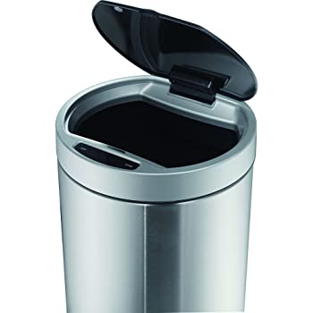 EKO 92850-1 9 L DOCOMO Sensor Bin Stainless Steel Trash Can