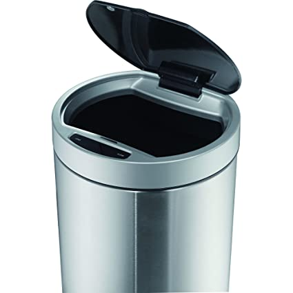 Eko 50l Round Open Motion Sensor Trash Can Stainless Steel