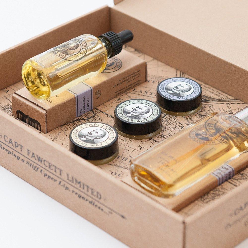 Captain Fawcett Eau De Parfum, Moustache and Beard Care Gift Set Captain Fawcett's