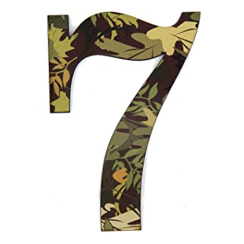 11 Quot Tall Mossy Oak Designer Camo Wall Number 7 Camo Pattern 3d Wall