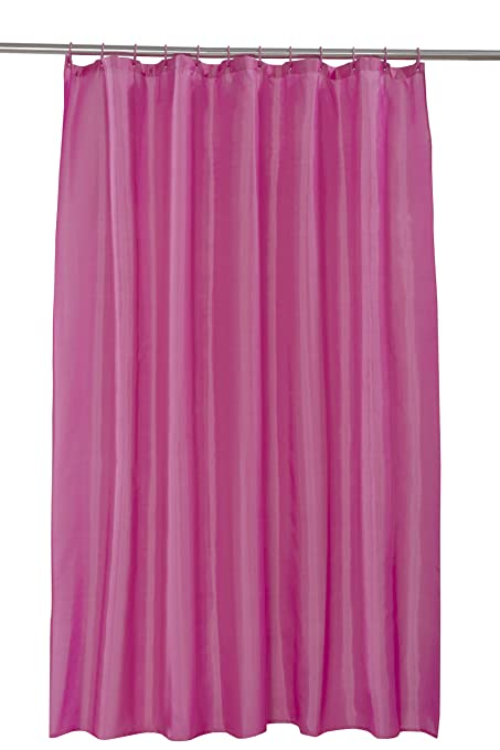 Spectrum 180 x 180 cm Shower Curtain and Rings Set, Fuschia: Amazon ...