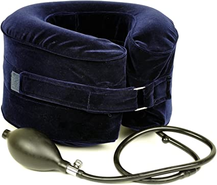Amazon.com: Almohada hinchable para tracción del cuello ...