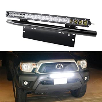 Ijdmtoy complete set 100w high power cree led light bar with ijdmtoy complete set 100w high power cree led light bar with bullbar style front bumper mozeypictures Images