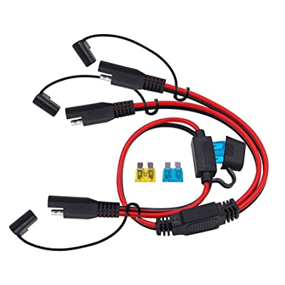 CUZEC 2-Way Splitter, SAE Connector,1 to 2 SAE Connector Power Charger Adapter: Automotive