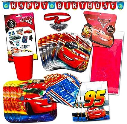 Amazon.com: Disney Cars suministros de fiestas (134 piezas ...