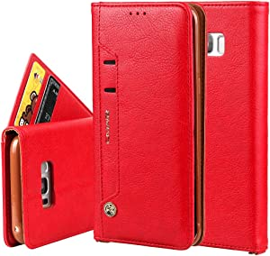 Smartphone Protective Clips Case for iPhone Samsung Galaxy S8 Plus Wallet Case,Premium PU Leather Credit Card Holder and Money Slot Case with Kickstand Flip cover (TPU inner protective cover) Phone Ba