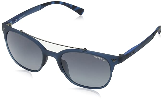 Police Game 14 Gafas de sol, Azul (Full Blue Rebberized), 41 ...