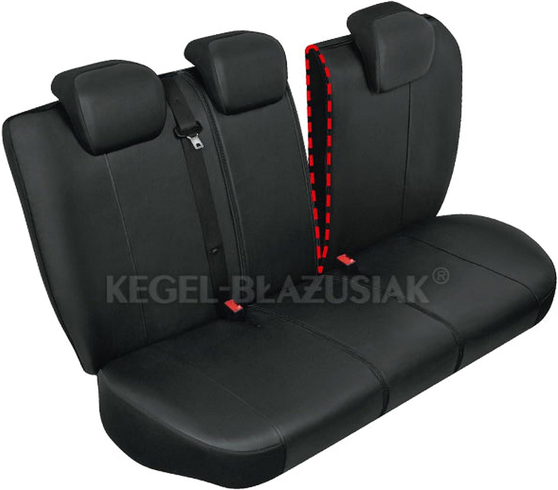 ZentimeX Z976531 Sitzbez/üge R/ückbank Kunstleder schwarz