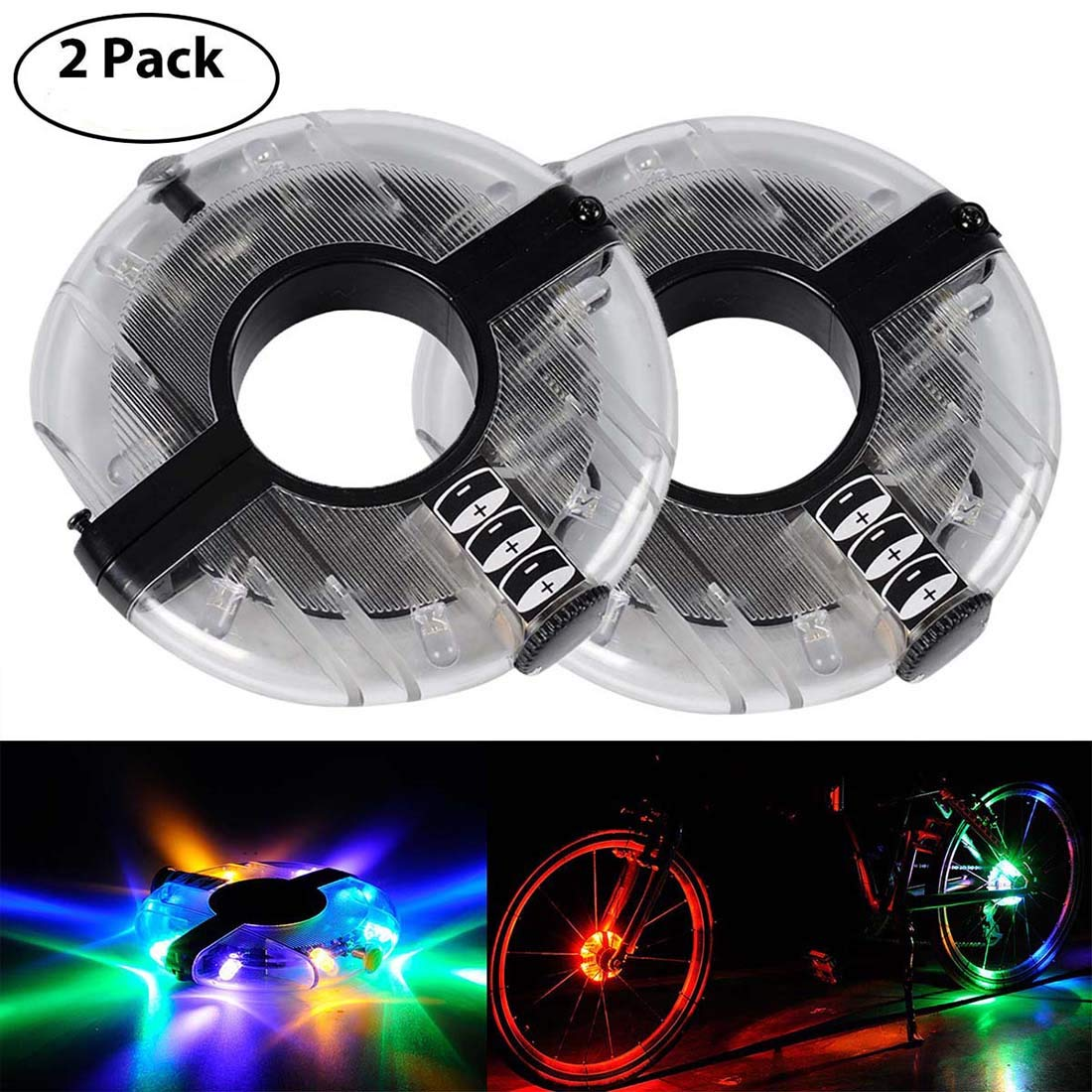 Colorful LED Bicycle Wheel Decoration Lights 3 Modes Cycling Bike Spoke Light Safety Light by LoveUlife (Image #1)