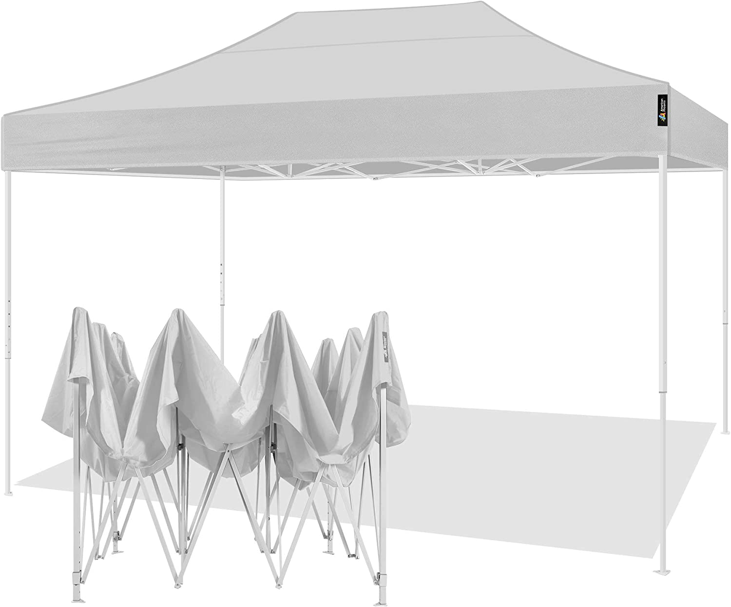 , Blue AMERICAN PHOENIX 10x15 Pop Up Tent Instant Canopy Commercial Outdoor Party Canopy Shelter White Frame 10x15FT