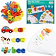 TOPKINWIN Alphabet Spelling Games Early Learning Toys for 1-4 Year Old Kids Girls Boys - Birthday Gifts