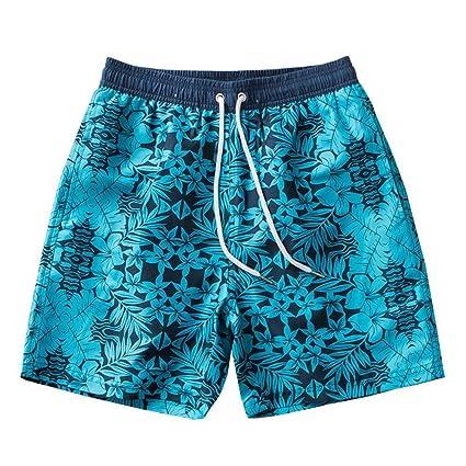 Sinedoly Men Impreso Casual Correas Playa Pantalones Cortos ...