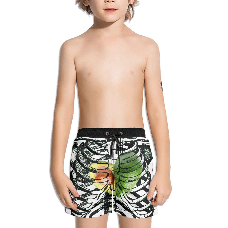 Trum Namii Boys Quick Dry Swim Trunks Skeleton Skull Avocado Shorts