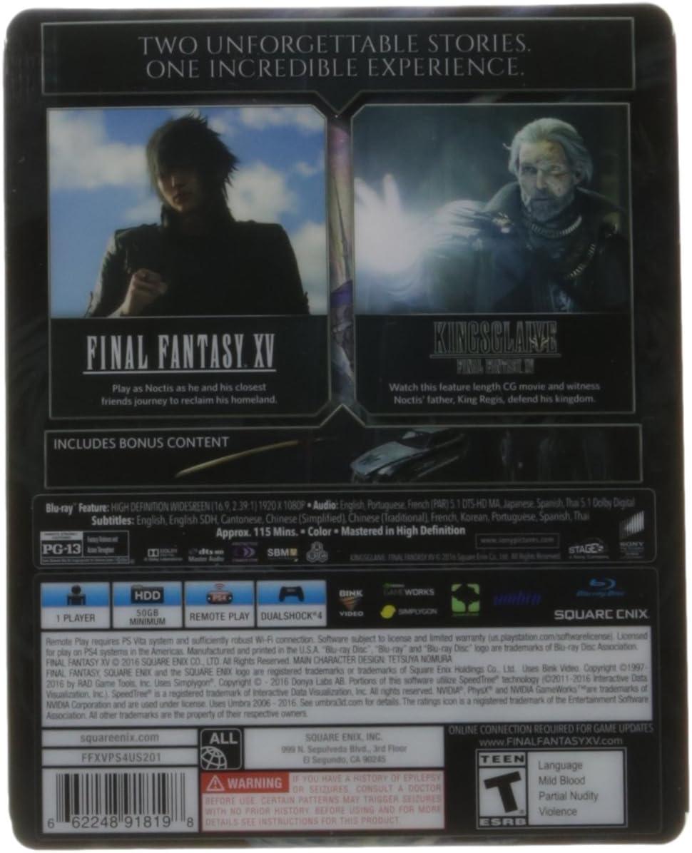 Final Fantasy XV Deluxe Edition - PlayStation 4(Versión EE.UU ...