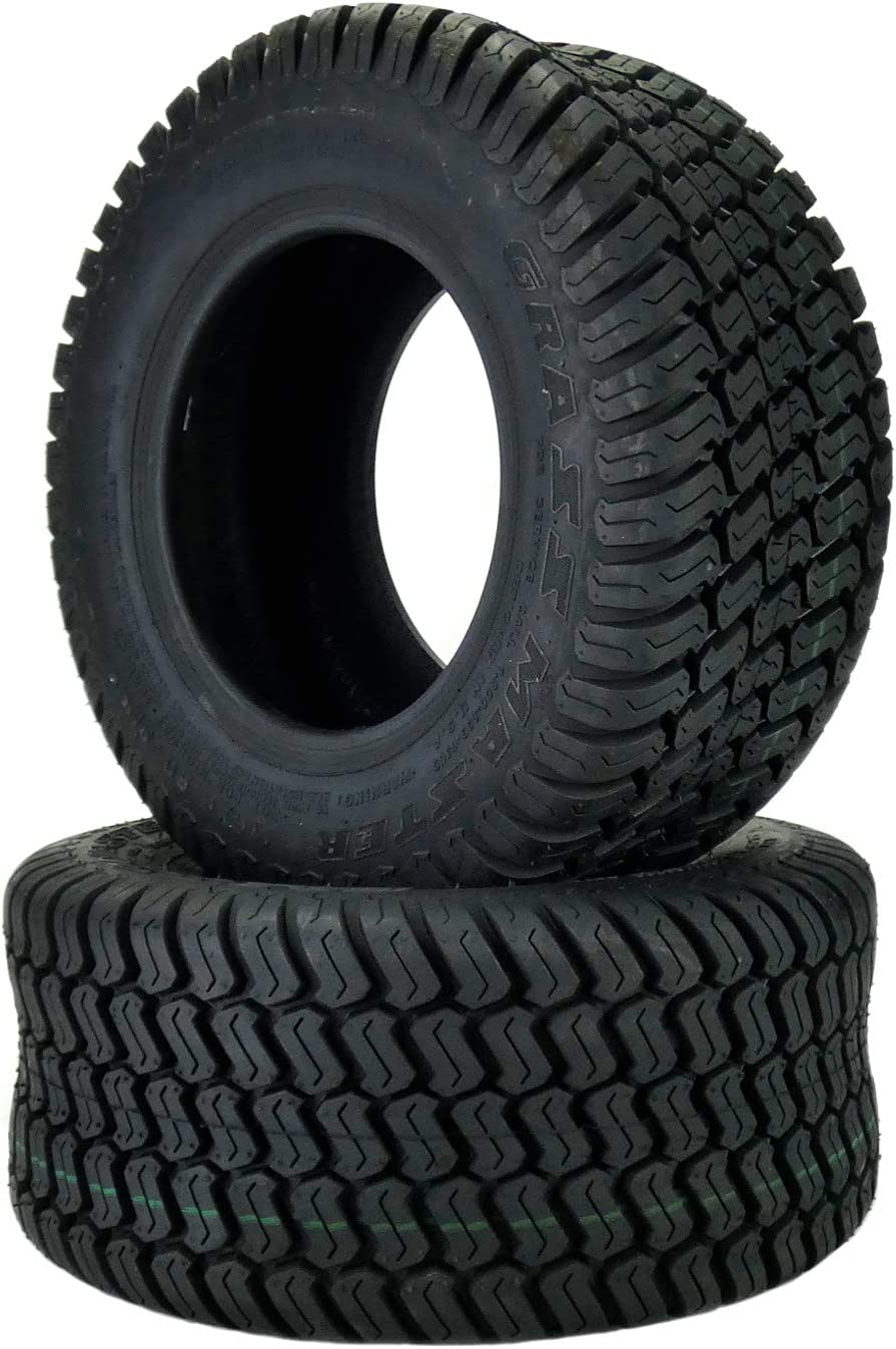 (2) 16x6.50-8 Tires 4 Ply Lawn Mower Garden Tractor 16-6.50-8 Turf Master Tread 71kXH4VRJ9L