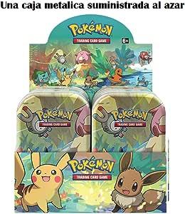 Pokemon JCC- Minilata Amigos de Kanto - Español (Una Suministrada al Azar) (The Pokemon Company POMT1901): Amazon.es: Juguetes y juegos