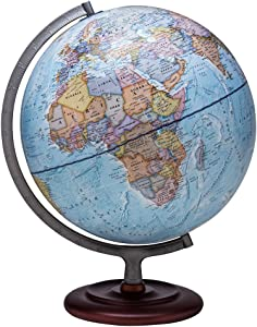 "Waypoint Geographic World Globe - Geographic Mariner 12"" Desk Decorative Globe with Stand, up to Date World Globe"
