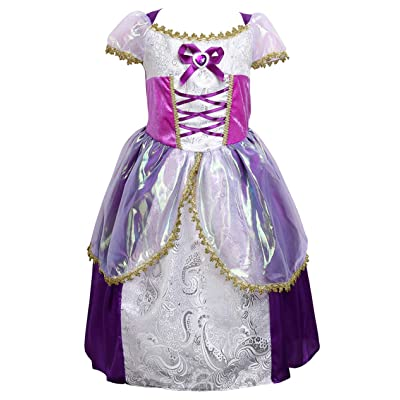 Little Girls Princess Rapunzel Dress Costume: Clothing