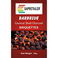 SAPRETAILER Coconut Shell Charcoal Briquettes for Barbecue