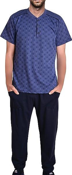 Pijama de algodón para Hombre, Pijama para casa, Pijama Corto ...