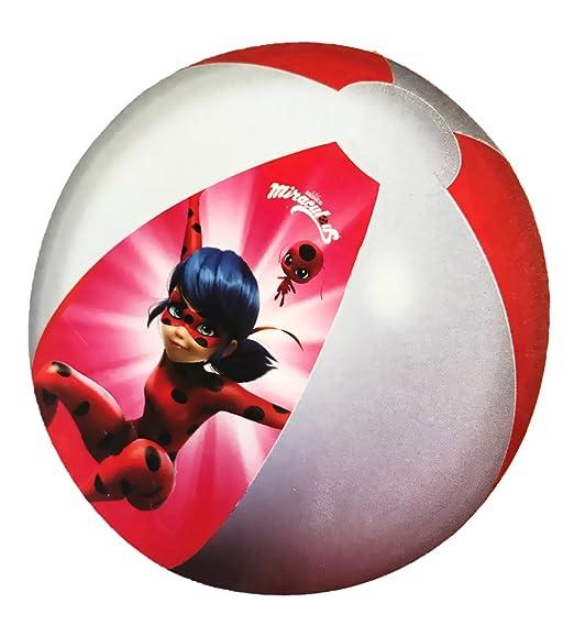 Miraculous - gran - Balón de playa hinchable Ladybug 50 cm ...