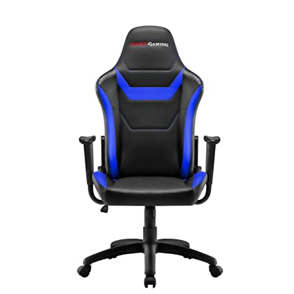 Mars Gaming MGC218 - Silla profesional, tecnología AIR, reclinable 180°, azul