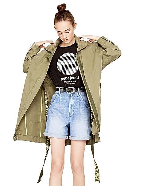 buy popular 4fde4 eaf62 Pepe Jeans parka Donna PL401344765 Sia Kaki S: Amazon.it ...