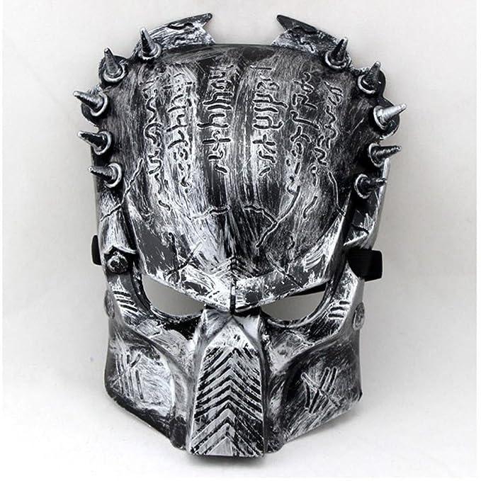 FHDUY Mascara De Halloween Mascara Predator Skull Guerrero Guerra Heteromorficas Casco Nosotros Armado con Hierro Sangre Anti VirusUna Máscara De Pirata: ...