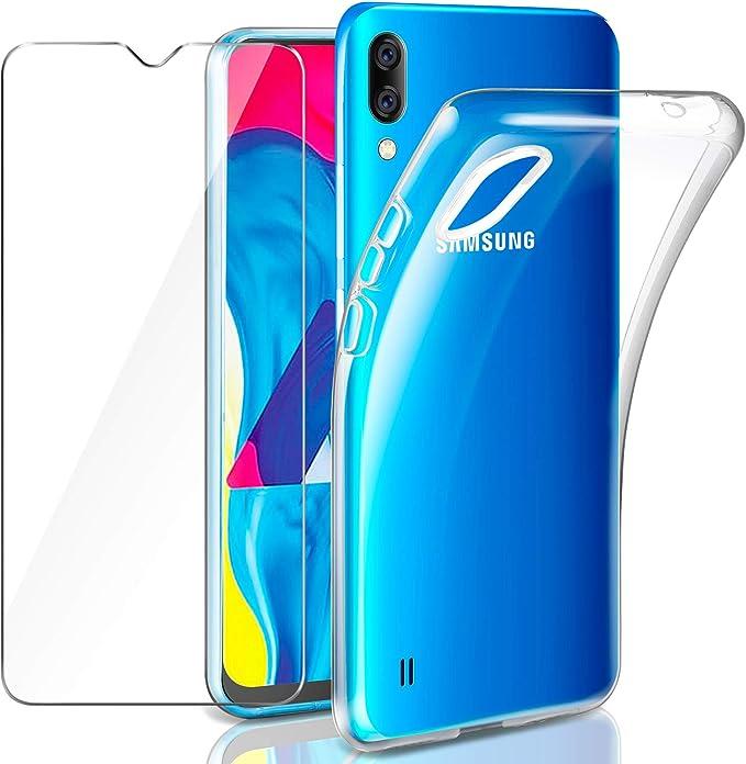 Leathlux Samsung Galaxy M10 Funda + Cristal Protector de Pantalla ...