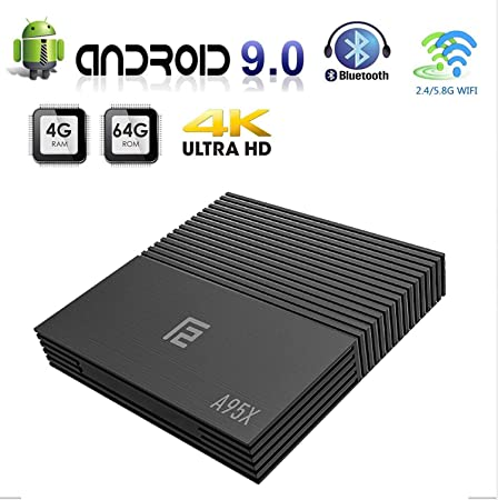 WFGZQ Android TV Box, A95X F2 Android 9.0 TV Box 4GB RAM / 64GB ROM S905X2 Quad-Core Supporto 2.4Ghz / 5.0Ghz WiFi Bluetooth 4.2, 4K HDMI DLNA 3D Smart TV Box,4gb+64gb: Amazon.es:
