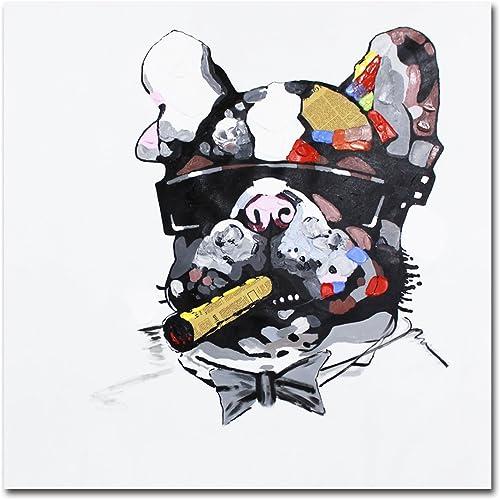Muzagroo Art Cool Dog Oil Paintings Hand Painted on Canvas Art