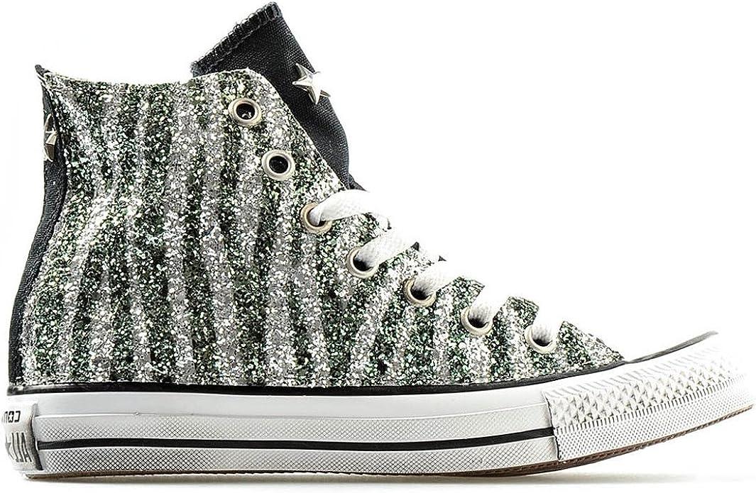 chaussure converse homme montante verte