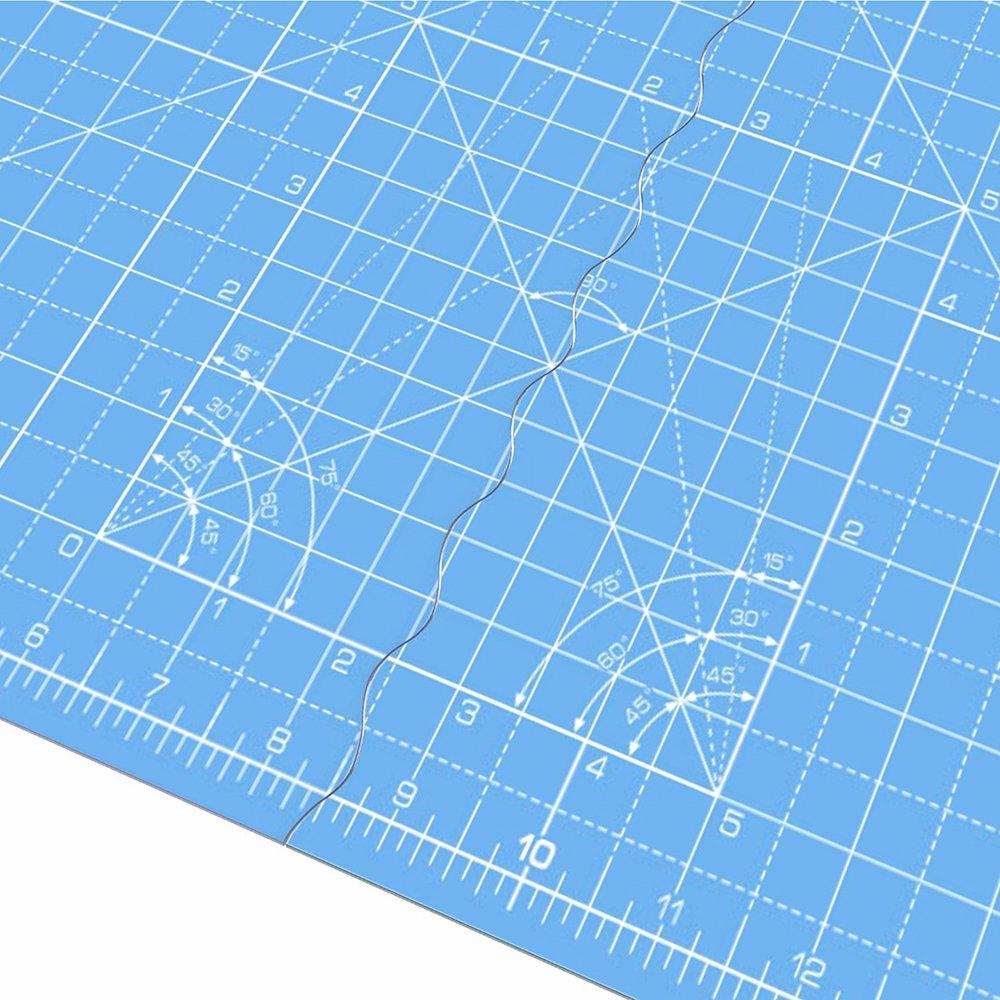 ANSIO A3 autoguarigione pieghevole tappetino da taglio imperiale 17 pollici x 11 pollici-Cielo Blu