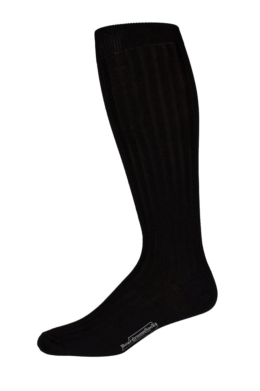 8c35bcd7073e Boardroom Socks Men's Over the Calf Black Mercerized Cotton Dress Socks at  Amazon Men's Clothing store: