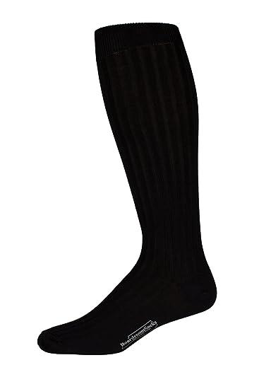 979c85d7e0cb Boardroom Socks Men's Over the Calf Black Mercerized Cotton Dress Socks