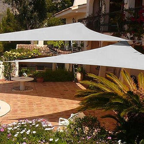 Shade Beyond 2 Pcs 12 x12 x12 Sun Shade Sail Triangle UV Block for Yard Patio Backyard Grey