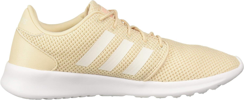 adidas QT Racer, Chaussures de Running Compétition Femme Lin Nuage Blanc Rose Glow