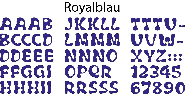 Made in Germany 2,4 cm Bambinella Buchstaben zum selbst Aufb/ügeln aus Velour//Flock - H/öhe: ca ABC und Ziffern wie abgebildet
