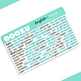 OOOZU Polish Language Card | Convenient Polish Phrasebook Alternative | Essential Polish For Travel To Poland/Warsaw
