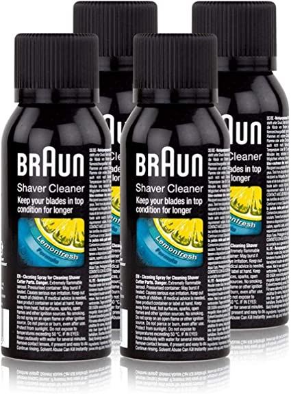 4x Braun Spray de Limpieza para Máquina de Afeitar - Braun Shaver ...