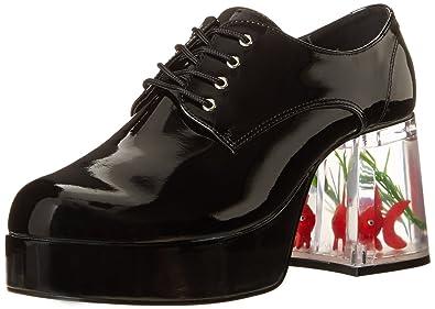 Funtasma PIMP-02 mens Black Patent Pumps Shoes Size - S