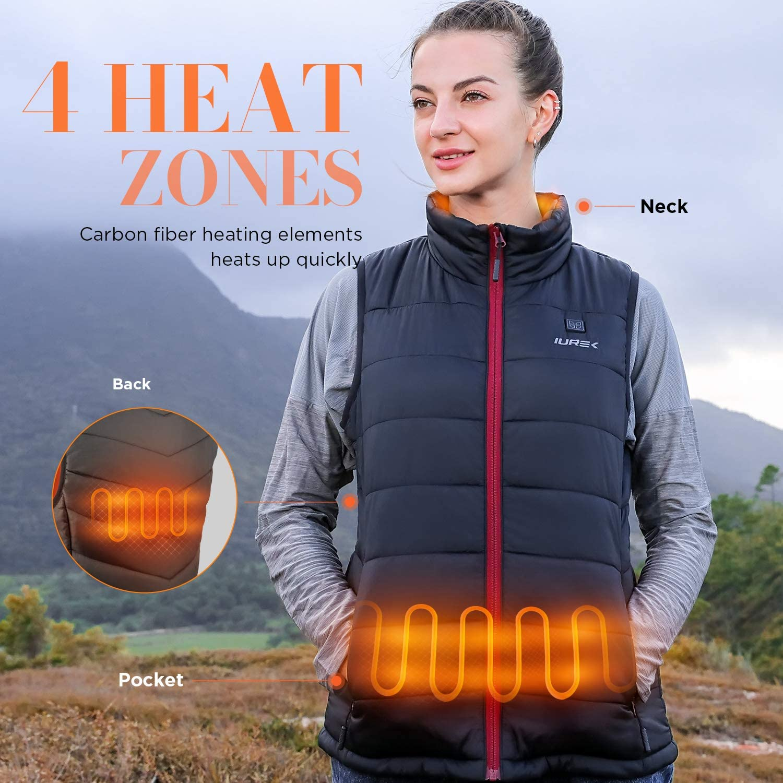 IUREK Womens Soft Shell Heated Jacket