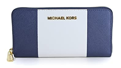 c5a92b931541 Image Unavailable. Image not available for. Color  Michael Michael Kors Jet  Set Travel Ceter Stripe Continental Wallet ...