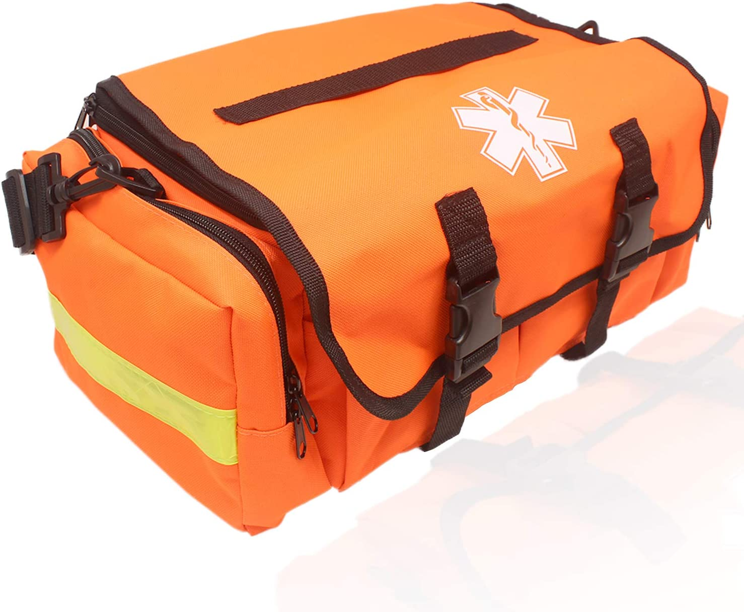 Ever Ready First Aid First Responder On Call Trauma Bag-PRO with Reflectors - Orange